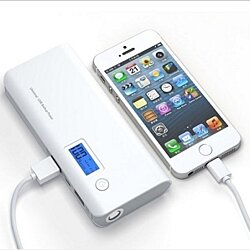 12,000mAh LED Dual-USB Power Bank- 2 Colors