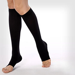 (2 Pairs) Open Toe Compression Socks - Easy to Put On!!!