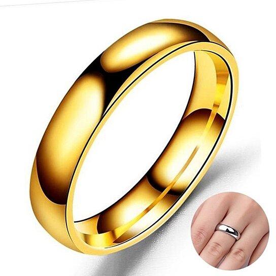 Buy Ring Titanium Stainless Steel Ring Men Women Smooth Simple