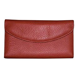 Dopp Roma Check Clutch Luxurious Leather Women's Wallet