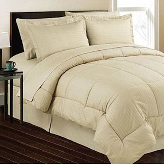 Buy 8 piece set premium hotel style down alternative for Hotel style comforter