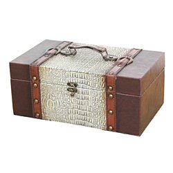 Leather Treasure Chest for Scarves