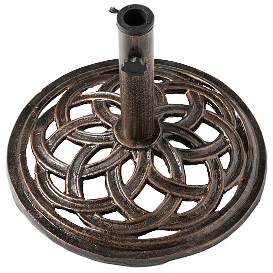 Buy Outdoor Patio Cast Iron Umbrella Base Holder Stand By Decorative Gift Gifts On Dot Bo