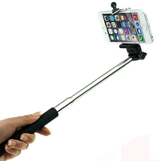 buy selfie stick for iphone with remote control shutter button by deeper disc. Black Bedroom Furniture Sets. Home Design Ideas