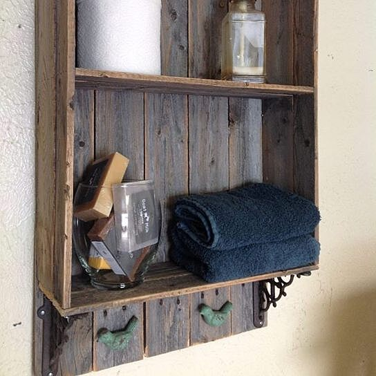 Simple Gray Wood Shelves I Would Want To Build This Because I Have A Shelf