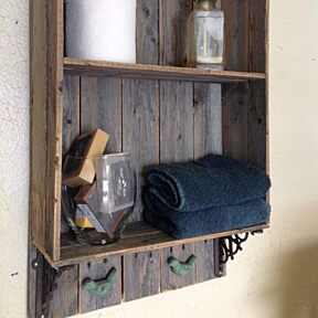 Barnwood bath shelf