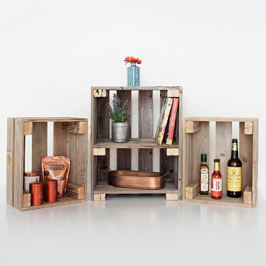 Buy Barnwood Bookshelf And Crates By DelHutsonDesigns On Dot Bo