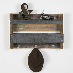 Industrial reclaimed entry shelf - barnwood