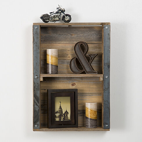 buy industrial reclaimed wood wall shelf by del. Black Bedroom Furniture Sets. Home Design Ideas
