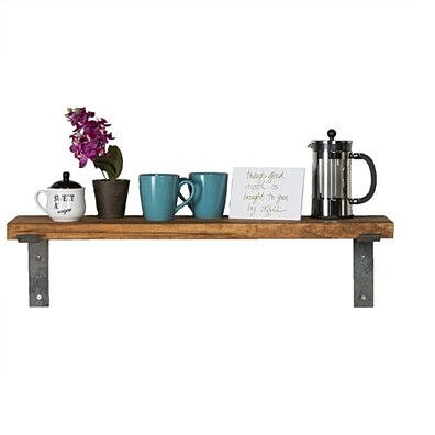Industrial Shelf With Metal Brackets