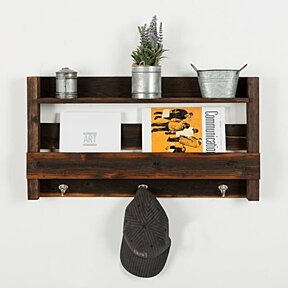 Large reclaimed entry shelf (dark walnut)