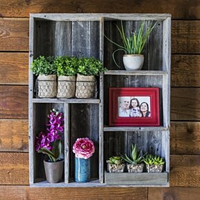 Reclaimed display box