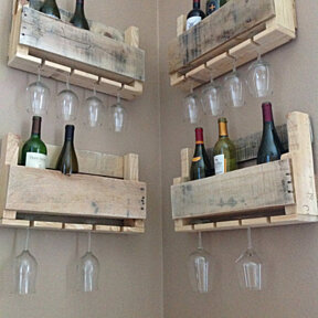 Reclaimed wood wine rack - small