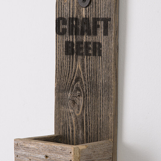 Buy reclaimed wood bottle opener free shipping by del for Where to find reclaimed wood for free