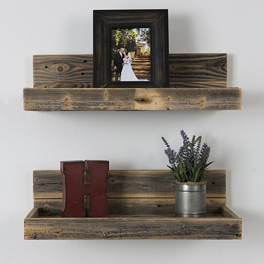 Buy reclaimed wood floating shelves free shipping by for Buy reclaimed wood online