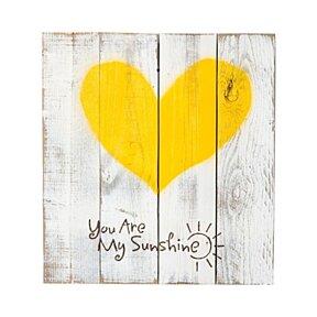 Reclaimed Wood Sign - You Are My Sunshine - Quote with Heart