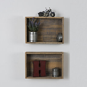Reclaimed Wood Shadow Box  (Set of two)