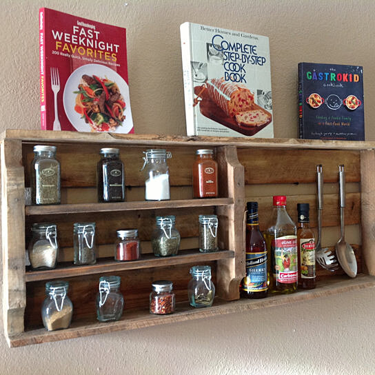 Woodworking Plans For Kitchen Spice Rack: Buy Reclaimed Wood Spice Rack(Free Shipping) By (del