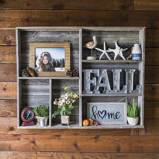 Buy reclaimed wood wall shelf free shipping by del for Where to find reclaimed wood for free
