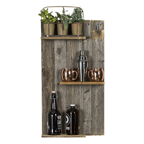 Buy reclaimed wood wall shelf by delhutsondesigns on opensky for Barnwood shelves for sale