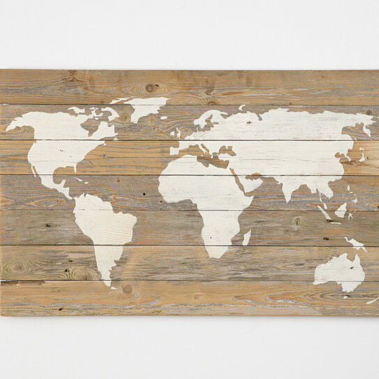 Buy reclaimed wood world map free shipping by del for Where to find reclaimed wood for free