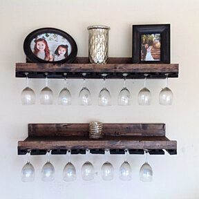 Rustic Luxe Tiered glass Rack- set of 2