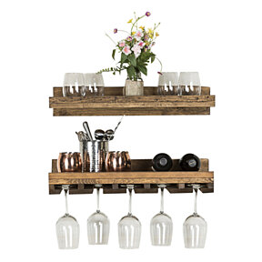 Rustic Luxe Tiered Wine Rack- set of 2