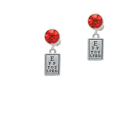 Buy Eye Chart Crystal Clip On Earrings By Delight Jewelry