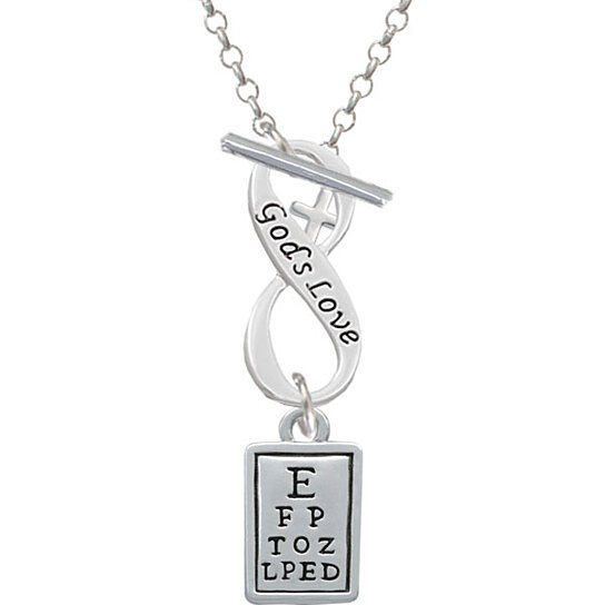 Buy Eye Chart God's Love Infinity Toggle Necklace By