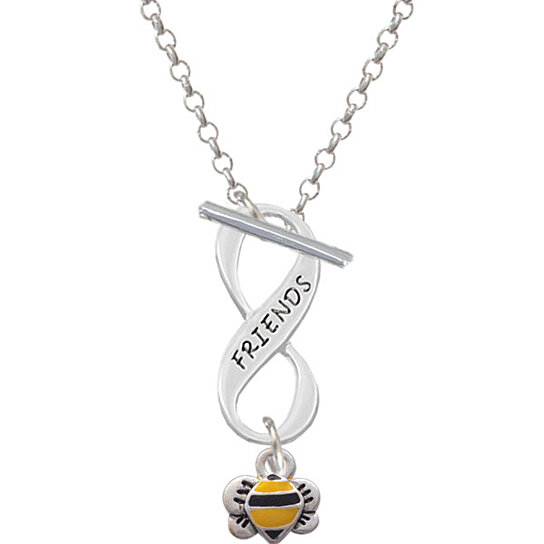 Mini Bumble Bee Friends Infinity Toggle Necklace