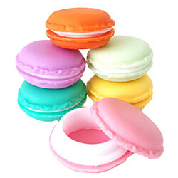 5 Pack of Mini Macaroon Trinket Boxes Jewelry Organizer Pill Container
