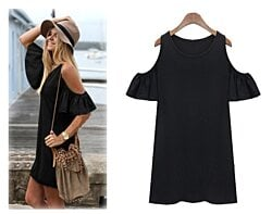 Butterfly Sleeve Cotton Summer Dress - 2 Colors