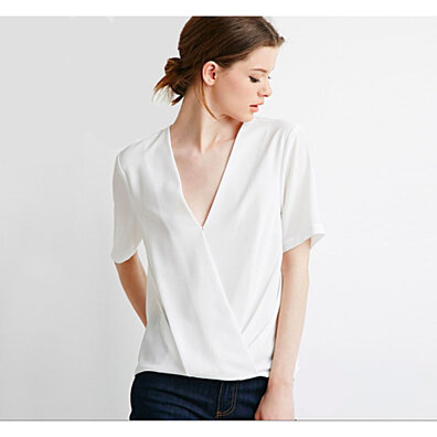 Cross Front Short Sleeve Blouse