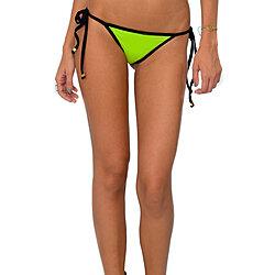 3bf8831b0d Abey String Side-Tie Bikini Bottom in Lime