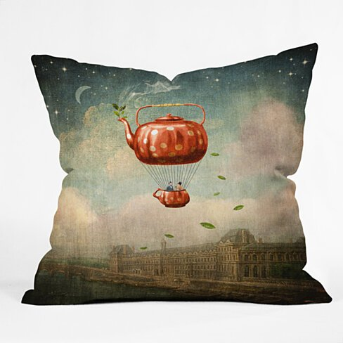 Belle13 Tea For Two At Dusk Throw Pillow