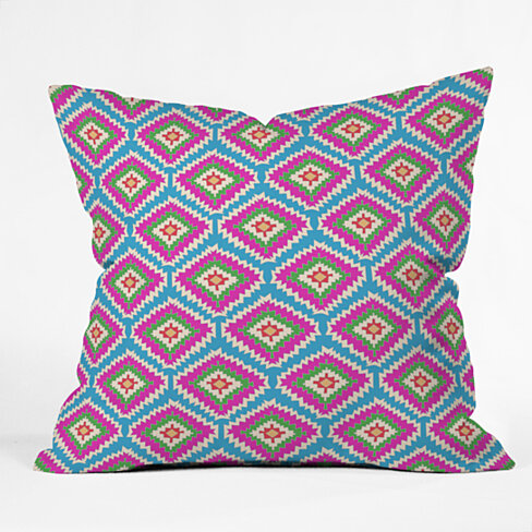 Bianca Green Aztec Fiber 5 Outdoor Throw Pillow