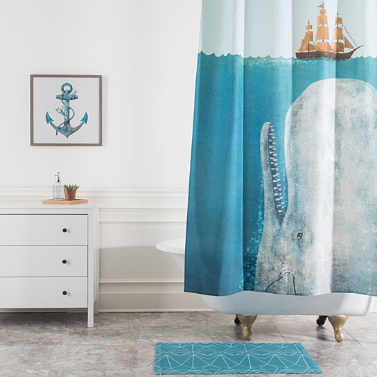 Buy Terry Fan The Whale Shower Curtain By Deny Designs On Dot Bo