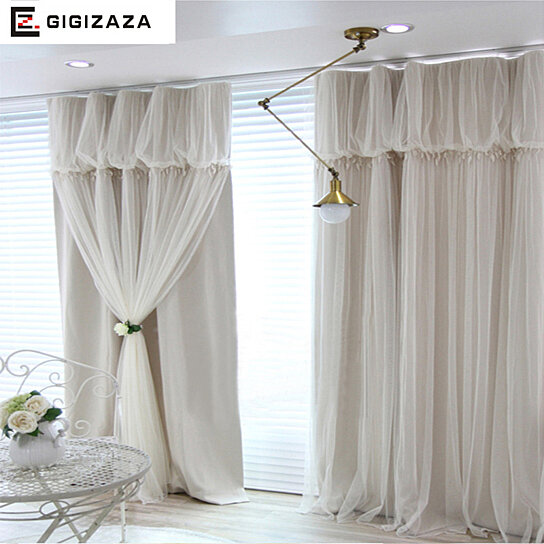 Buy torino tassels lanterns head top curtain ivory color for B m bedroom curtains