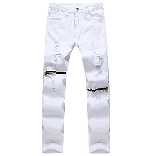 7857ee3ca537 Trending product! This item has been added to cart 0 times in the last 24  hours. Men s Ripped Skinny Distressed Destroyed Slim Fit Jeans Pencil Pants  ...