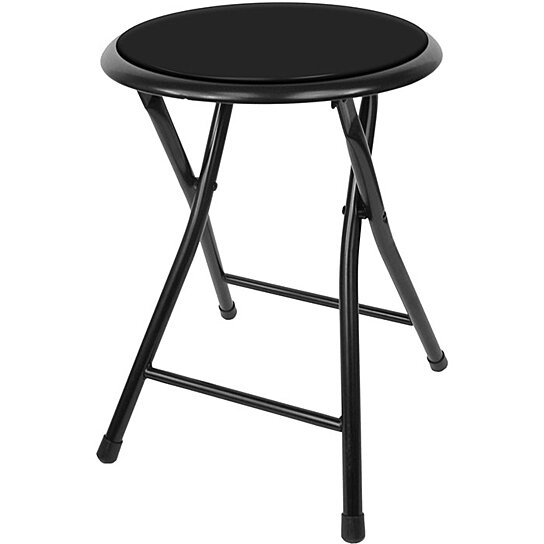 Buy Folding Stool Heavy Duty 18 Inch Collapsible Padded Round With 300 Pound Capacity By Destination Home On Dot Bo