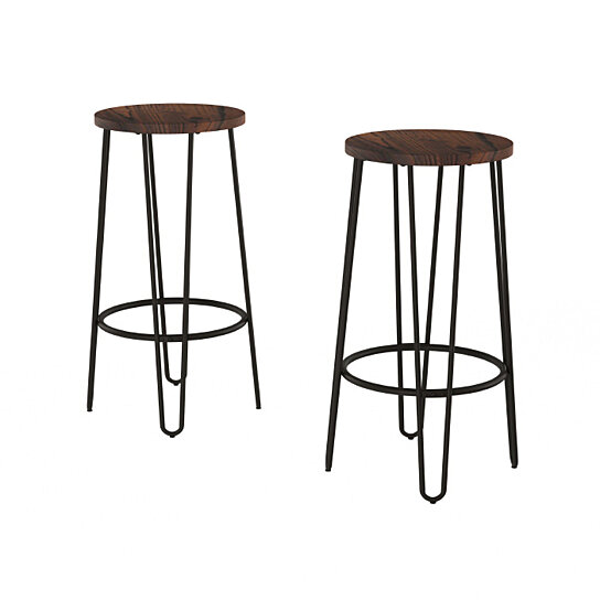 Buy 2 Pack Bar Height Stools Backless Barstools With