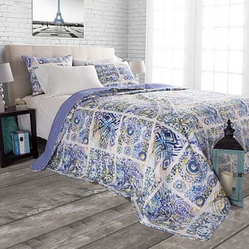 3 pc Quilt Set Melody by  Lavish Home  King