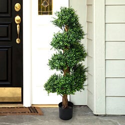 48 inch Pure Garden Boxwood Spiral Tree