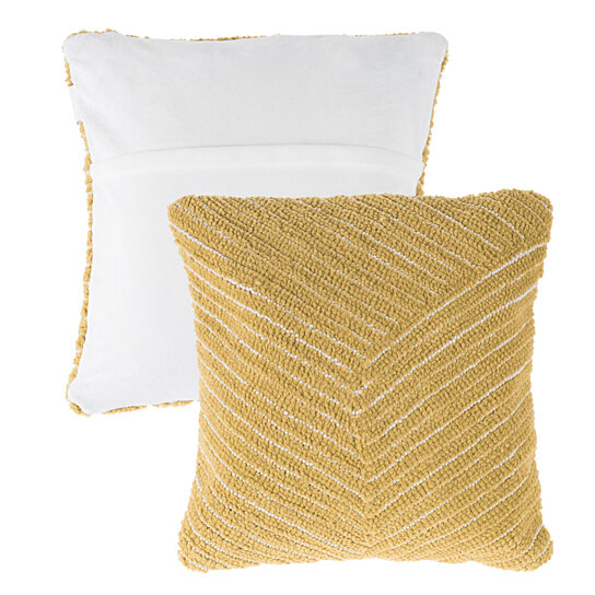 Buy Accent Throw Pillow 18 In Striped Cut Loop Design Removable