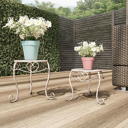Plant Stands Set Of 2 Indoor Or Outdoor