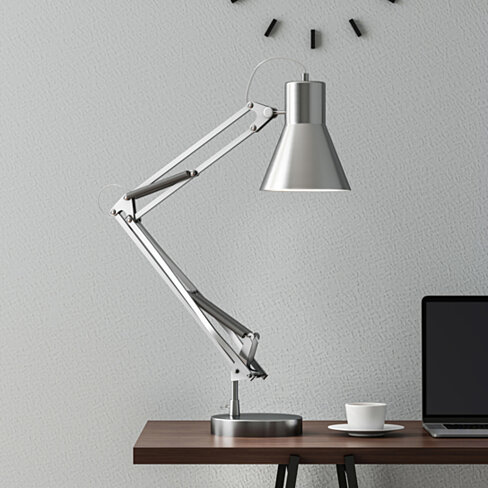 Architect Desk Lamp LED Task Light with Adjustable Swing Arm for Home and Office Brush Steel