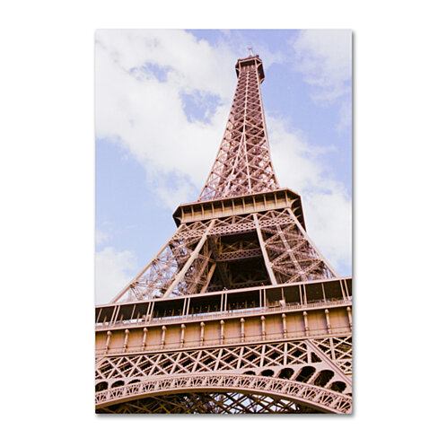 Ariane Moshayedi 'Eiffel Tower from Below' Canvas Art 16 x 24