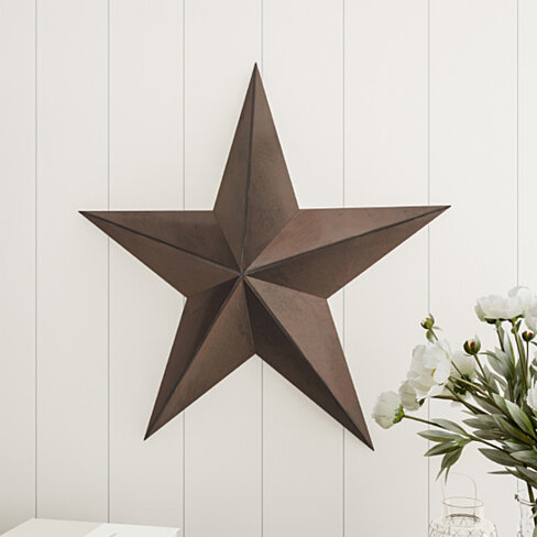Barn Star-24-Inch Metal Indoor Rustic Farmhouse Americana Hanging Dimensional Shabby Chic Distressed Wall D�cor