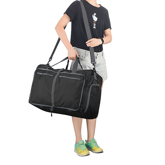 bc3f9aeafb51 Buy Big Duffle Gym Bag - Luggage Tote for Overnight   Weekend Trips Shoe  Compartment and Outer Pockets Black 27.5 Inches Wide by Destination Home on  OpenSky
