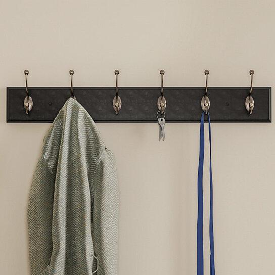 Wall Hook Rail Mounted Hanging Rack